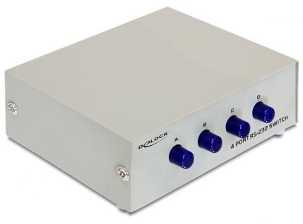 Seriell Umschalter RS-232 4-Port manuell, Delock ® [87589]