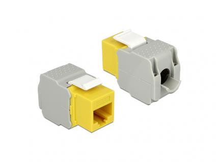 Keystone Modul, Cat.6, RJ45 Buchse an LSA UTP, gelb, Delock® [86345]