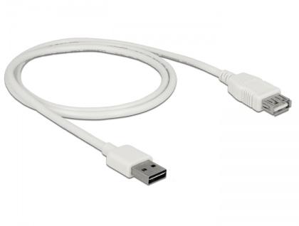 Verlängerungskabel EASY-USB 2.0 Typ-A Stecker an USB 2.0 Typ-A Buchse, weiß, 1 m, Delock® [85199]
