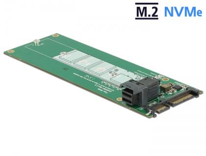 Konverter SATA 22 Pin / SFF-8643 NVMe an 1x M.2 Key M, Delock® [62703]
