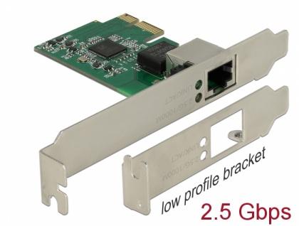 PCI Express x1 Karte an 1x 2, 5 Gigabit LAN, Delock® [89531]