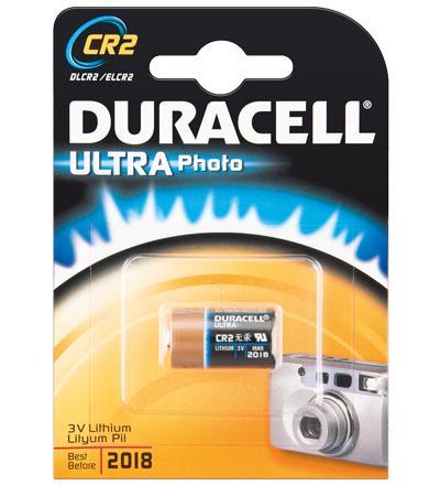 Duracell® Foto Batterie Lithium (DL CR2) für Foto, Digital-, MP3 Geräte; 1er Blister