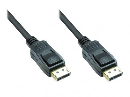 Anschlusskabel DisplayPort 1.2, vergoldet, schwarz, 5m, Good Connections®