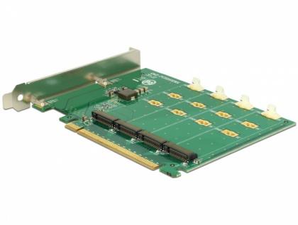 PCI Express x16 Karte > 4 x intern NVMe M.2 Key M - Bifurcation , Delock® [89835]