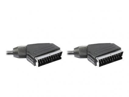 Anschlusskabel Scart Stecker an Stecker, 3m, Good Connections®