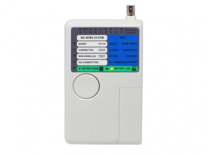 Netzwerk-Kabeltester mit Remote-Einheit für RJ45, RJ11, UTP/STP/BNC/USB, Good Connections®