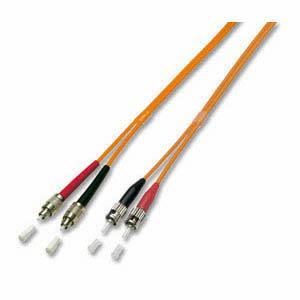 kabelmeister® Patchkabel LWL Duplex OS2 (Singlemode, 9/125) ST/FC-PC, gelb, 0, 5m