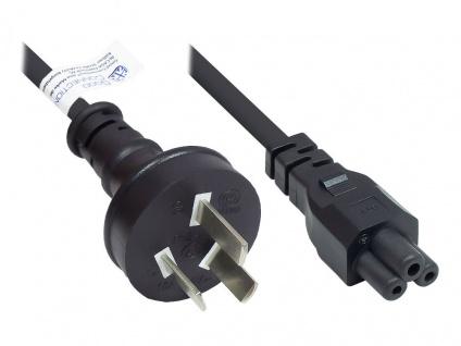 Netzkabel China Netz-Stecker Typ I (gerade) an C5 (gerade) für Notebook, CCC, schwarz, 0, 75 mm², 1, 8 m, Good Connections®