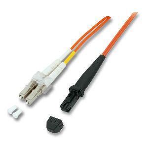 kabelmeister® Patchkabel LWL Duplex OS2 (Singlemode, 9/125) MT-RJ/LC, 1m