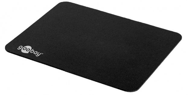 Maus-Pad, schwarz, 22x18cm