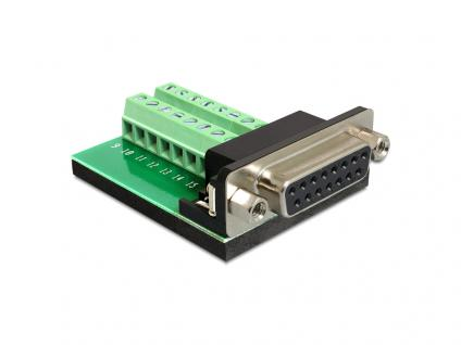 Adapter Sub-D 15 Pin Gameport Buchse an Terminalblock 16 Pin, Delock® [65274]