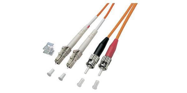 kabelmeister® Patchkabel LWL Duplex OM2 (Multimode, 50/125) LC/ST, 7m