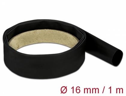Schrumpfschlauch 1 m x 16 mm schwarz, Delock® [18976]