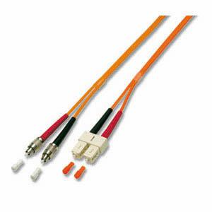 kabelmeister® Patchkabel LWL Duplex OS2 (Singlemode, 9/125) FC/PC-SC, gelb, 1m