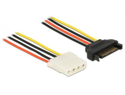 Adapter Power SATA 15Pin Stecker an 4Pin Molex Buchse, 0, 2m, Delock®[60136]