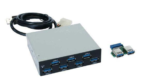 Hub, USB 3.0, 7 Port, intern als Einschub im PC, Exsys® [EX-1167]