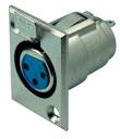 Cannon / XLR-Buchse, Flanscheinbau, Good Connections®