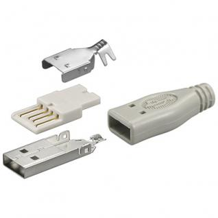 USB A Stecker, unmontiert, Lötversion, Good Connections®