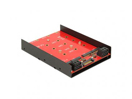 Konverter 4 x SATA 7 Pin an 4 x M.2 NGFF, 3, 5', Delock® [62574]