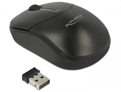 Optische 3-Tasten Mini Maus 2, 4 GHz wireless, Delock® [12494]