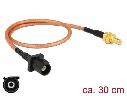 Antennenkabel FAKRA A Stecker an SMB Stecker RG-316, 0, 3m, Delock® [89676]