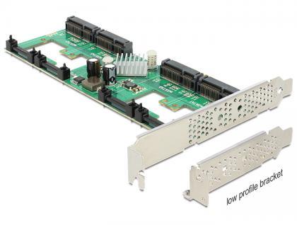 PCI Express Karte an 4 x intern mSATA mit RAID, Delock® [89373]