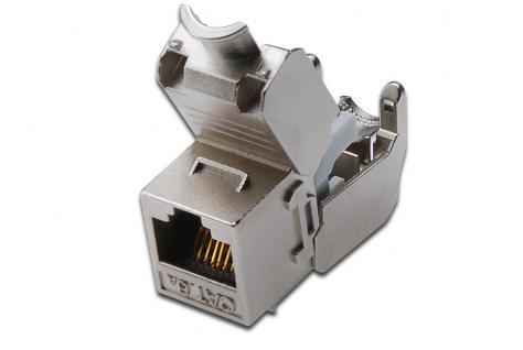 Keystone Jack Cat. 6a RJ45 Buchse, geschirmt, werkzeugfreier Montageanschluss, Digitus® [DN-93615]