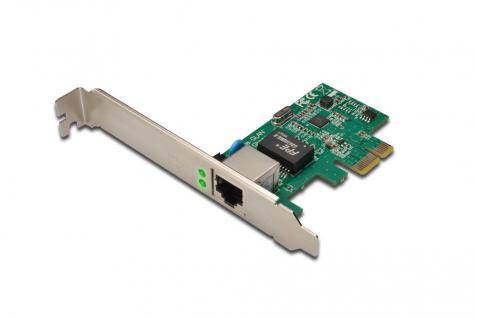 Gigabit PCI Express Card 10/100/1000 Mbit, 32-bit, Realtek chipset, Incl. Low Profile Bracket Single-Lane PCI-E Digitus® [DN-10130]
