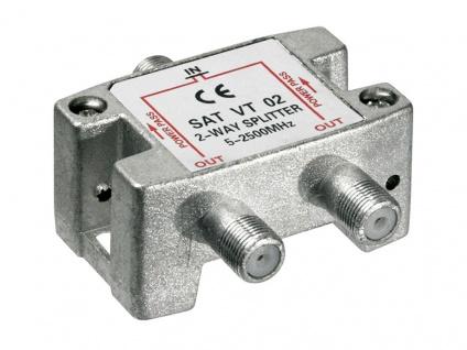 SAT Verteiler 2-fach, 5-2450 MHz, digital-tauglich - Vorschau