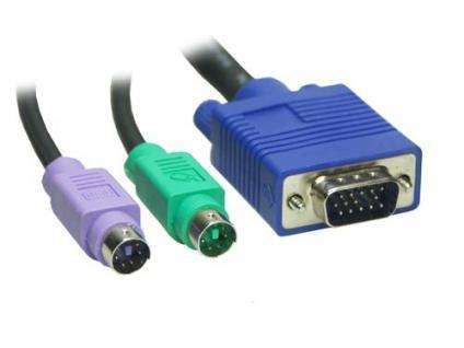 KVM Kabelsatz Stecker / Stecker Länge: 1, 8m, Good Connections®