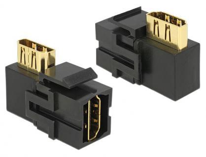 Keystone Modul, HDMI Buchse an HDMI Buchse 90____deg; gewinkelt, schwarz, Delock® [86358]