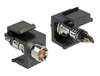 Keystone LED orange 6 V, schwarz, Delock® [86457]