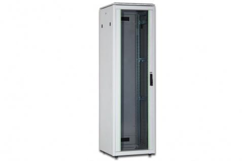 Netzwerkschrank 26HE, H1342xB 600xT 600mm, RAL 7035, grau, Digitus® [DN-19 26U-6/6-1]