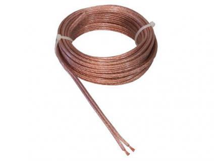 kabelmeister® Lautsprecherkabel 10m Ring, 2 x 2, 5mm², transparent