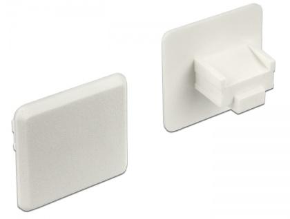 Staubschutz für RJ45 Buchse, ohne Griff, 10 Stück, weiß, Delock® [64019]