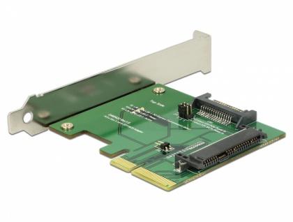PCI Express x4 Karte an 1x intern U.2 NVMe SFF-8639 Buchse, Delock® [89672]