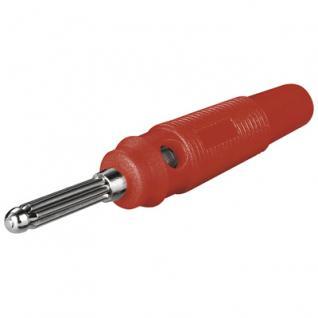 Bananen-Laborstecker, mit Querloch, 4mm, trittfest, rot, Good Connections®