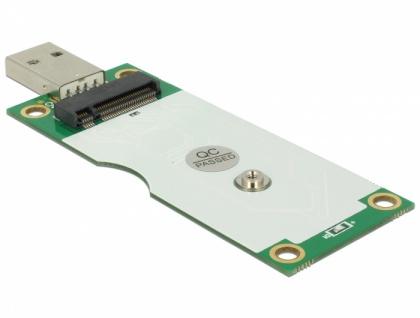 Konverter USB 2.0 Typ-A Stecker > M.2 Key B mit SIM Slot, Delock® [63446]