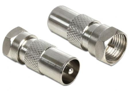 Adapter F Stecker an KOAX-Stecker, Delock® [65618]