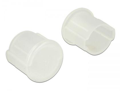 Staubschutz für BNC Buchse 10 Stück, transparent, Delock® [64022]