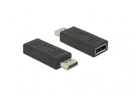 Adapter DisplayPort 1.2 Stecker an DisplayPort Buchse Portschoner, schwarz, Delock® [65691]