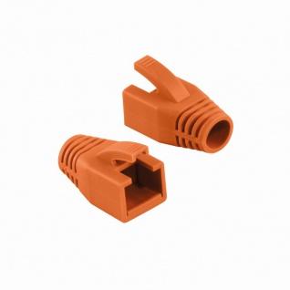 Knickschutztülle 8, 0 mm für Cat.6 RJ45 Steckverbinder, orange, LogiLink® [MP0035O]