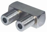 kabelmeister® Adapter Connector F-Buchse an F-Buchse