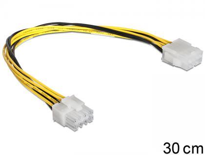 Stromkabel 8 Pin EPS Verlängerung Stecker an Buchse, Delock® [83342]