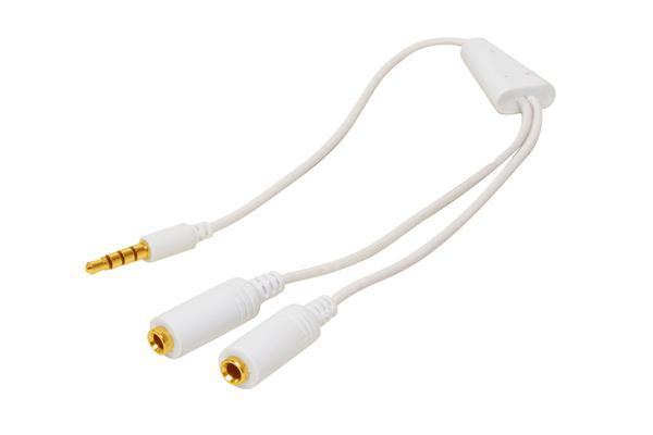 Y-Audioadapterkabel für iPod/iPhone, 0, 2m, weiß