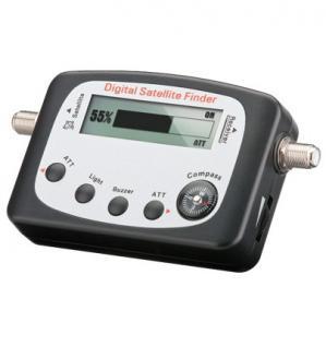 kabelmeister® Digitaler Satelliten Finder (LCD-Anzeige) mit Kompass und Ton, inkl. F-Anschlusskabel