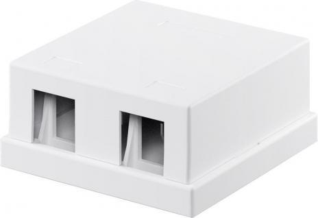 KeyStone Leergehäuse 2-port, Snap-In Montage, weiß