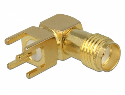 SMA Buchse 90____deg; PCB Gewindelänge 5 mm, Delock® [65849]