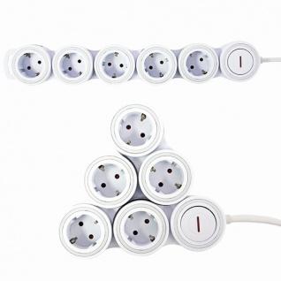Steckdosenleiste Supraflex mit Schalter, 5-fach, Kinderschutz, 1, 4m, weiß