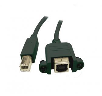 kabelmeister® Verlängerung USB 2.0 Stecker B an Einbaubuchse B, 0, 5 m